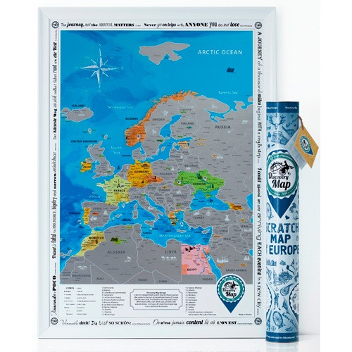 Скретч-карта «DISCOVERY MAP of EUROPE»