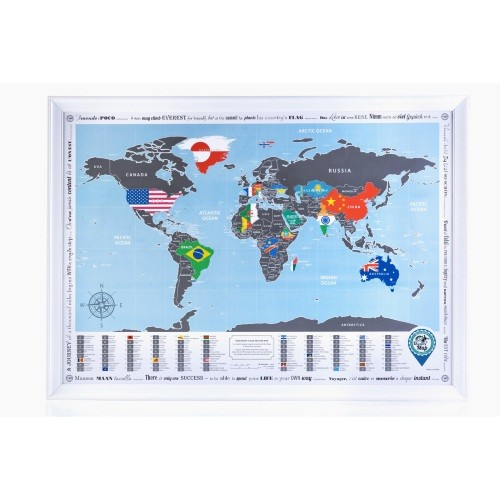 Скретч-карта «Discovery map world flags edition»